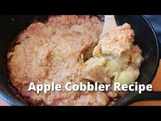 Apple Cobbler recipe on the grill. This simple recipe for apple cobbler cooked entirely on the smoker or grill. Bbq Desserts, Grilled Desserts, Traeger Recipes, Grilling Recipes, Grilling Ideas, Bbq Ideas, Apple Cobbler Easy, Best Cinnamon Rolls, Pellet Grill Recipes