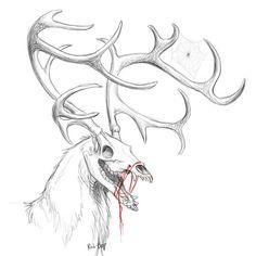 Mal, 472 Kommentare – The Vampire Diaries (Hannah Abigail. Creepy Drawings, Dark Art Drawings, Creepy Art, Skull Drawings, Deer Skulls, Animal Skulls, Creature Drawings, Animal Drawings, Animal Sketches