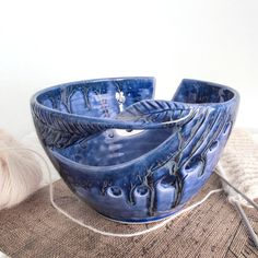 "LARGE 8 1/2"" Lavender Blush Knitting yarn bowl by BlueRoomPottery 