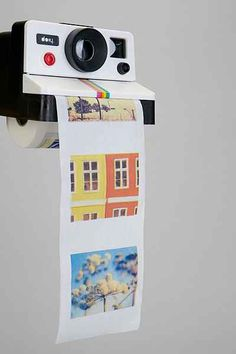 Laughing so hard at this Polaroid printed toilet paper. Funny gift for a photographer.