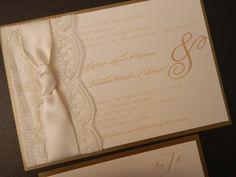 Lace Wedding Invitations SAMPLE. $6.50, via Etsy.