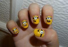 cute nail art | Tumblr (Minions!)