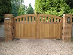 Engaging Picture Of Home Exterior Decoration With Various Wooden Gate ...