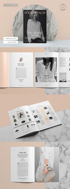 Södermalm is a 30 page Indesign template. It's a stylish and fully customizable way to present your editorial and image based magazine. Whilst we've used the Södermalm template as a fashion magazine, this versatile template can be used as the basis for a portfolio, look-book or proposal for designers, architects, creatives, photographers etc .