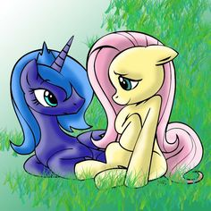 princess luna my little pony | Princess Luna and Fluttershy - My Little Pony Friendship is Magic Fan ...