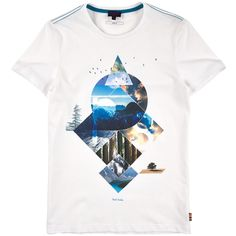 Paul Smith Junior Short-sleeved T-shirt with a print White - 82690 | Melijoe.com