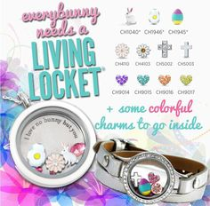 Origami Owl Easter 2015 - get yours today as they are limited edition!