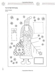 Stitch it for Christmas: Festive Sewing Projects to Craft and Quilt: Lynette Anderson: Vintage Embroidery, Embroidery Applique, Cross Stitch Embroidery, Embroidery Patterns, Christmas Patchwork, Christmas Sewing, Christmas Eve, Rug Hooking Patterns, Quilt Patterns