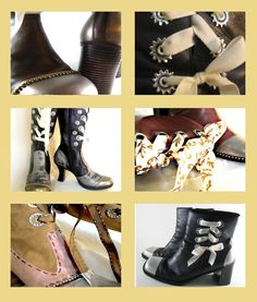 CUSTOM MADE Victorian/Steampunk boots/shoes - Upcycle old/unused boots