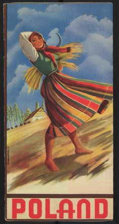 Poland young village woman on the wind vintage postcard - girl gifts special unique diy gift idea Vintage Travel Posters, Vintage Postcards, Vintage Gifts, Poster Vintage, Vintage Outfits, Artist Painting, Painting & Drawing, Polish Posters, Polish Folk Art