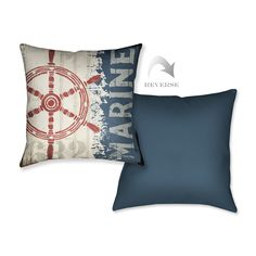 35.990-Shop Wayfair for Laural Home Nautical VI Throw Pillow - Great Deals on all Decor products with the best selection to choose from!