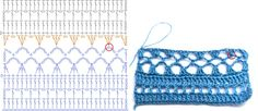 This is re-post from our Ravelry group    I found some nice pattern in my UFO's and draw the chart:         Read the chart bottom up and ...