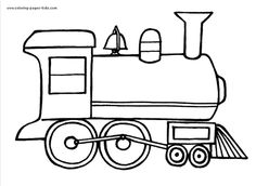 locomotive color pages coloring pages for kids transportation