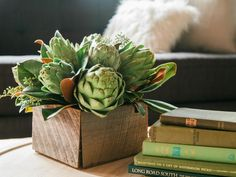 13 Spring Centerpieces Filled With Fruits and Vegetables | HGTV >> http://www.hgtv.com/design/decorating/design-101/12-spring-centerpieces-you-can-eat-too-pictures?soc=pinterest