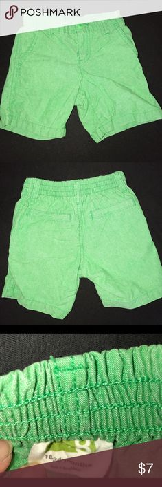 Crazy 8 18-24 months boys shorts Kelly green Crazy 8 shorts, 18-24 months boys, elastic waistband, excellent condition. Worn a couple times. Crazy 8 Bottoms Shorts