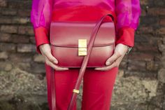 MAISON ACADEMIA RED LOVE | TheCabLook celine classic box bag, fashion style street fashion elegant trend of summer