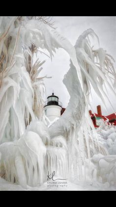 Winter 2018 buildup of ice on lighthouse so amazing Wish I knew where this is. Lighthouse Pictures, Winter Scenery, Beacon Of Light, Winter Magic, Snow And Ice, Snow Scenes, Winter Beauty, Winter Time, Amazing Nature