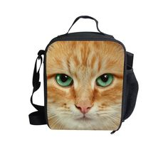 FORUDESIGNS Animal 3D Horse Kids Lunch Bags New Picnic Thermal Lunchbox Children Insulated Zoo Lunch Bags Gifts
