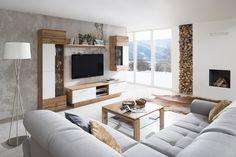 Obývačka ALFONSO vo vyhotovení dub wotan/biela supermat Flat Screen, Couch, Furniture, Home Decor, Blood Plasma, Settee, Decoration Home, Sofa, Room Decor