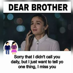 Inner feeling of a poor little boy who misses his sister Bro And Sis Quotes, Brother Sister Love Quotes, Brother And Sister Relationship, Sister Quotes Funny, Brother And Sister Love, Bff Quotes, Girly Quotes, Friendship Quotes, Funny Quotes