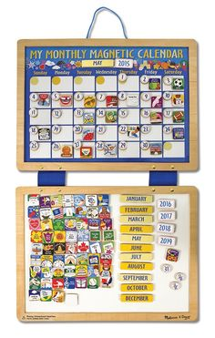 Amazon.com: Melissa & Doug Deluxe Magnetic Calendar: Toy: Toys & Games