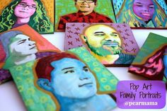 Create your own Pop Art Family Portraits - Pearmama