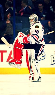 Crawford doing his goalie celly.