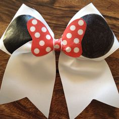 Minnie Mouse Large Cheer Bow by MoeBowTique on Etsy, $15.00