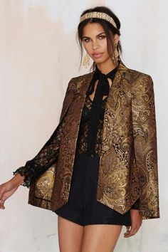 Nasty Gal Go for Baroque Cape Blazer - Clothes | Dark Romance | Dark Romance | Blazers | Jackets + Coats