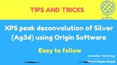 XPS peak deconvolution of silver (Ag3d) using Origin software - Youtube