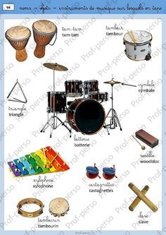 les instruments de musique French Classroom, Ways Of Learning, Music School, French Words, Learn A New Language, French Lessons, Teaching French, Music Classroom, Learn French