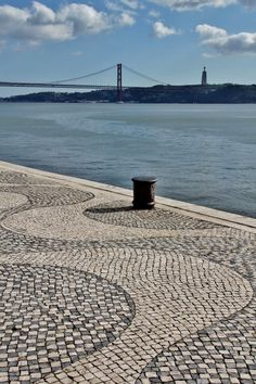 "The famous Portuguese cobblestone pavement (""calçada"") in Belém, Lisbon #Portugal - photo by Sabine Ostermann www.pure-image.eu"