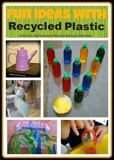 5 Fun and Budget Friendly Ideas using Recycled Plastic!! #GaleriAkal Untuk berbagi ide dan kreasi seru si Kecil lainnya, yuk kunjungi website Galeri Akal di www.galeriakal.com Mam!