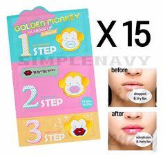 Holika Holika Golden Monkey Glamour Lip 3-Step Kit 15pcs #HolikaHolika