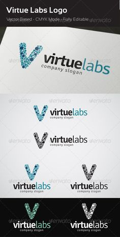 Virtue Labs - Logo Design Template Vector #logotype Download it here: http://graphicriver.net/item/virtue-labs-logo/3918958?s_rank=642?ref=nesto
