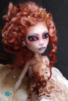 OOAK Custom Monster High Doll Spectra Vondergaist Repaint Reroot Art Doll