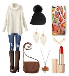 """Fall Explosion"" by claire394 ❤ liked on Polyvore featuring Nine West, Aéropostale, Black, Casetify, Silver Luxuries and Estée Lauder"