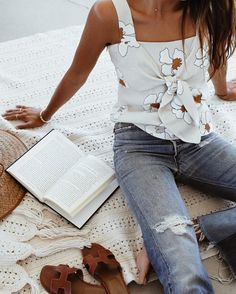 "Shop Sincerely Jules on Instagram: ""Loving the tie knot detail on our Flora Top! 