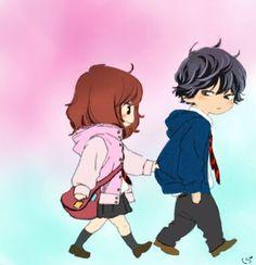 Futaba and Kou     ~Ao Haru Ride