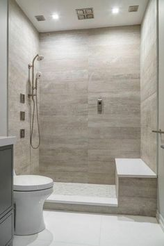 You need a lot of minimalist bathroom ideas. The minimalist bathroom design idea has many advantages. See the best collection of bathroom photos. Bad Inspiration, Bathroom Inspiration, Small Bathroom, Master Bathroom, Bathroom Showers, Modern Bathroom, Peach Bathroom, Tile Showers, Brown Bathroom