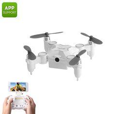 #Chinavasion - #Chinavasion SMAO M1HS Mini Drone - One Key Landing And Take Off, FPV, WiFi, App Support, 220mAh, LED Lights, 0.3MP Camera (White) - AdoreWe.com