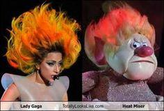 Lady Gaga Totally Looks Like Heat Miser