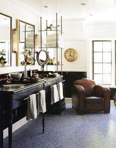 """Masculine Bathrooms"" feature on DomaineHome.com (via Irene Turner)"