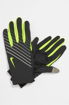 Nike 'Tech' Lightweight Running Gloves | Nordstrom...cool has a touch screen tab on the thumb & a palm pocket for a key