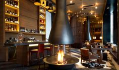 The Bar and Living Room at The Chedi Andermatt, Switzerland