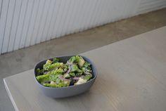 Vegan Caesar Salad with chopped romaine hearts, mushroom bacon, pickled red onions, croutons and house made caesar dressing. Pickled Red Onions, Vegan Comfort Food, Vegan Restaurants, Caesar Salad, House Made, Plant Based Recipes, Whole Food Recipes, Bacon, Stuffed Mushrooms