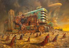 Invaders by Jaroslaw Jasnikowski Arte Steampunk, Steampunk Artwork, Retro Futuristic, Le Far West, Fantasy, Fantastic Art, Amazing, Sci Fi Art, Dieselpunk