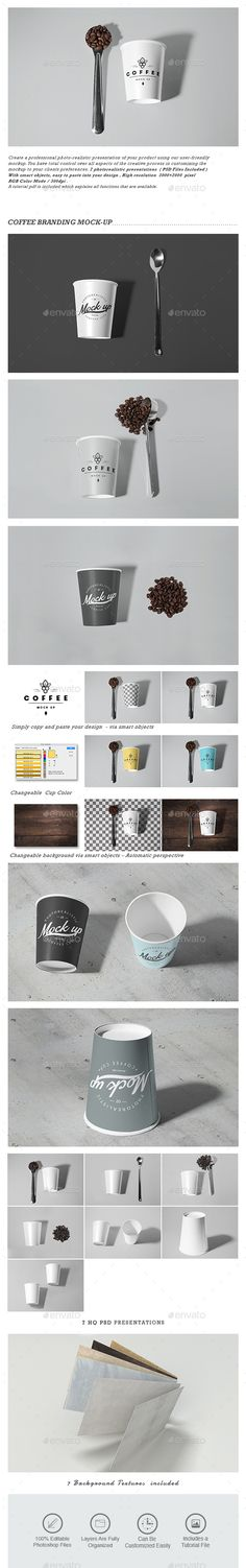 Coffee Branding Mockup — Photoshop PSD #tea #drink cup • Available here → https://graphicriver.net/item/coffee-branding-mockup/16040814?ref=pxcr
