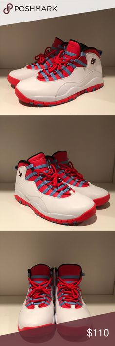 "498b9263632 Air Jordan 10 Retro Chicago 2016 Air Jordan 10 Retro Chicago 2016 - city flag  colorway, part of Nike's 2016 Jordan 10 ""city pack"" collection - ""CHI"" ..."