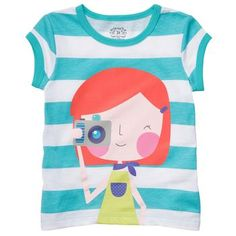 this could be me on a child's graphic tee - red hair & camera in hand